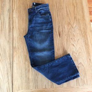 Eileen Fisher High Rise Straight Leg Cropped Denim